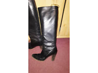 Italian Leather Black Boots