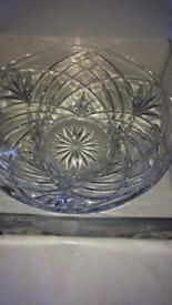 Crystal bowl with labels still on.