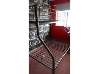 Metal double and single bunkbed frame