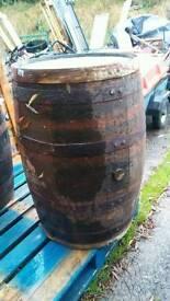 Genuine oak whiskey barrels