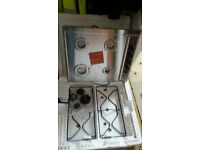 stainless steel gas hob.