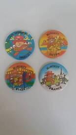 Vintage mr.wimpy badges