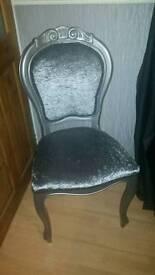 Stunning grey/silver statement chair