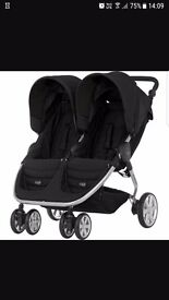Double pram for sale only used once. Excellent condition £200