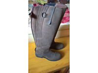 Ladies Leather Toggi Riding Boots EU39 / UK Size 6 Slimfit - Worn Once Only