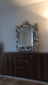 Large Silver Antique Mirror for Sale