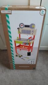WOODEN WORKBENCH AND TOOLS ** BRAND NEW**