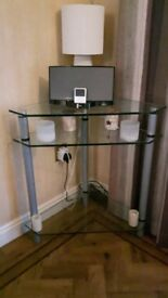 Corner glass unit