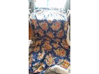 Winter Weight Very Long Curtains Lined Superwarm Vintage Floral