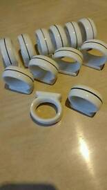 Set of 12 quality china napkin rings