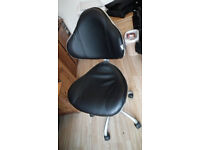 OFFICE CHAIR, BLACK PU LEATHER