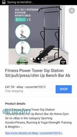 Fitness exercise station for pull ups sit ups