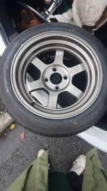 Rota grid v 15 inch. Brand new never been driven on. Brand new Yokohama tyres. 4x100