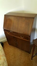 Timber fold down desk/bureau - £50