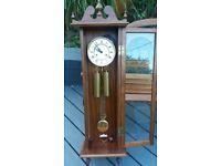 Beautiful twin weight vintage wall clock
