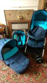 All in one condor pushchair