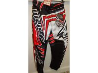 wulfsport race pants red motocross motox quad youth junior kids size 22 age approx 5-6
