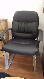 Brand new black cantilever chairs for office use/meeting rooms