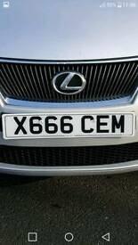Private number plate X666CEM