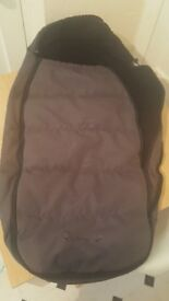 Quinny Buzz footmuff for sale in grey and black. Excellent condition.