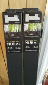 2 Forest Wall Murals Wallpaper NEW IN BOX XMAS