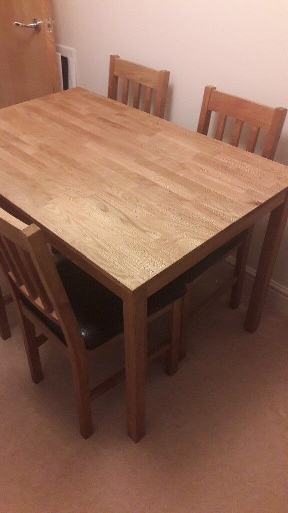 Solid Wood Dining Set With 4 Chairs In Cheltenham Gloucestershire