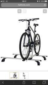 Exodus roof rack with bike mount