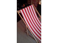 Red and white Deck Chair