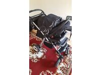Baby Buggy with forward & rear facing mode + Car Seat + Mosquito Net for sale