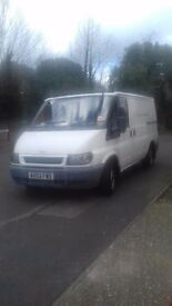 Transit van full years MOT new tyres.. sterio cd player. Starts first time. .. £1400. cj 07496885448