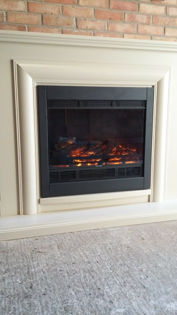 Electric Fire And Surround With Remote Control In Norwich Norfolk