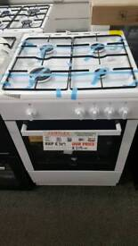 New graded Bush 60cm gas cooker with 12 months guarantee