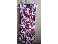 Printed Floral Flare Dress size 8