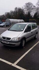 Vauxhall Zafira 1.6 petrol 2003