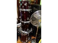 drum kit*premier cabria xpk *22 bass drum ,16 and 14 inch flor tom, 12 inch tom ,14-snare ,all stand