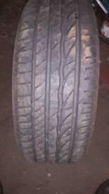 215 45 15 part worn tyre Bridgestone used tire 6-7mm
