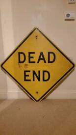 Genuine American Dead End Road Sign