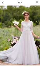 Wtoo Watters Amelie Wedding Dress Tulle BRAND NEW size 12 Nude/Ivory
