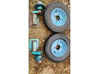 Trailer wheels and brackets