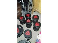 Ziva Dumbbells for sale vgc only used a couple of times