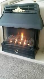 Gas fire emberglow