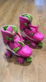 Girls roller skates. Adjustable 12-3 size
