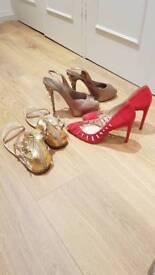 3 pairs ladies (designer) shoes size 40/41