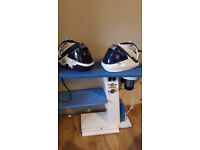 Professional used ironing table Fimas + 2 Tefal Pro Express irons FOR SALE
