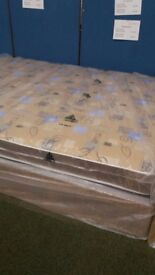 New quilted kingsize divan base and mattress