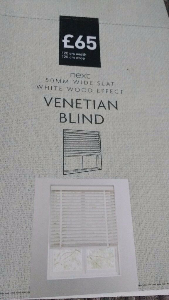 Next white Venetian blind, brand new still in box