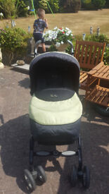 Green and Black Silver Cross 3 in 1 Pushchair