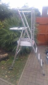 Folding aluminium step ladder - platform
