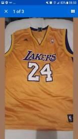 LA Lakers Kobe Bryant shirts. Home and away.
