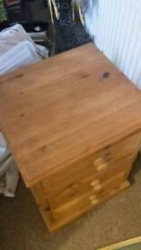Solid pine beside table